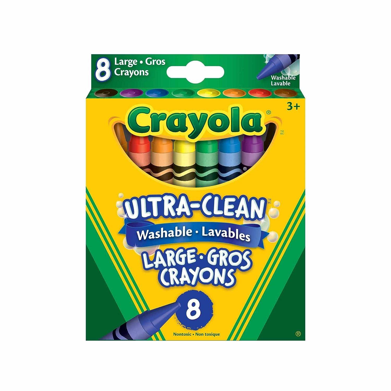 Crayola 8 Large Washable Crayons 52-3280