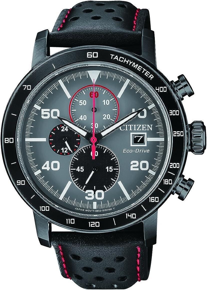 Citizen orologio cronografo quarzo uomo con cinturino in pelle ca0645-15h