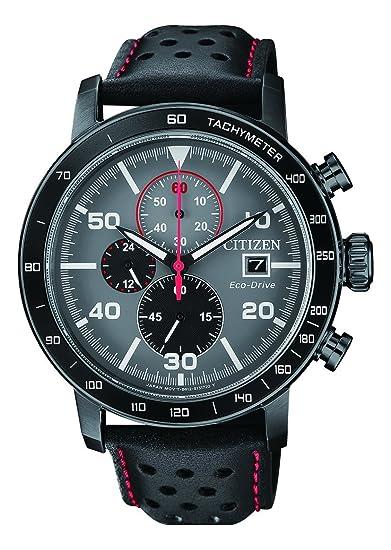 25fd1ccd96b Citizen Reloj Cronógrafo para Hombre de Cuarzo con Correa en Cuero  CA0645-15H