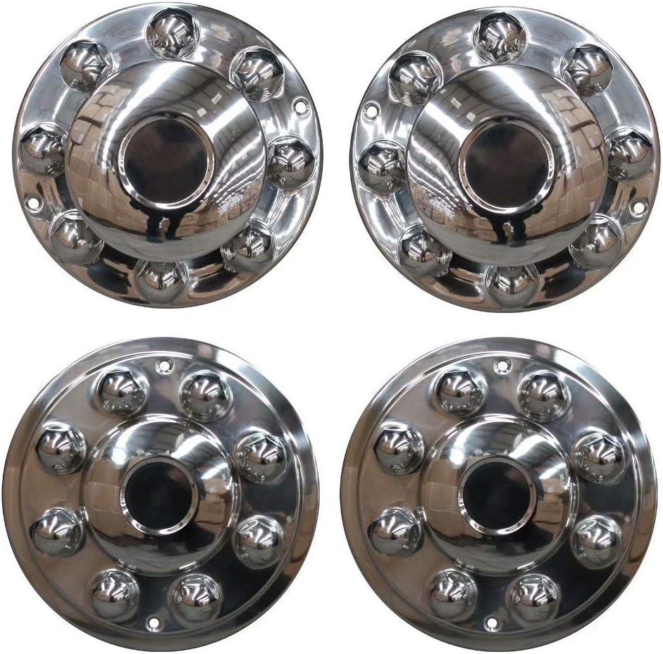MUKEZON 4pcs 17 Dually Steel Wheel Simulators 8 Lug 5 Hand Hole Skins Liners Covers R17