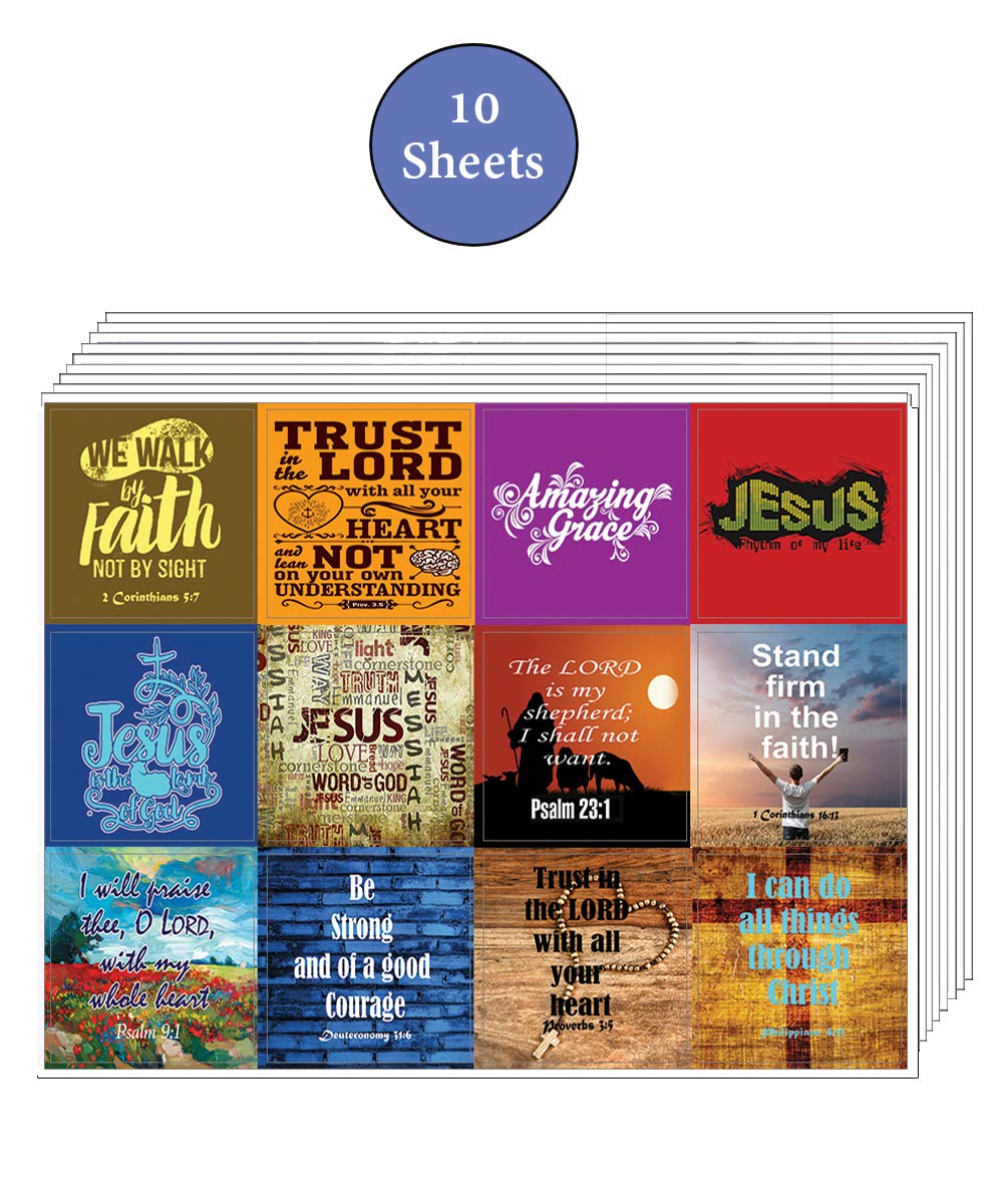 10-Sheets NewEights Jesus Stickers