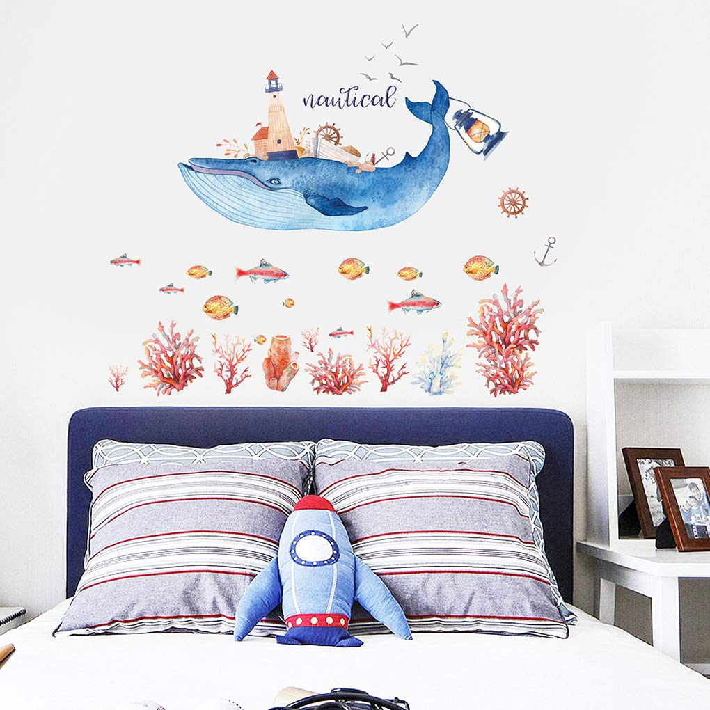 OmkuwlQ Drift Bottle Animal PVC Art Decal Child Room Nursery Wall Decoration Sticker Sofa Background Wallpaper by OmkuwlQ (Image #7)