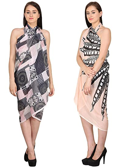b01b69b4e6658 INDIAN FASHION GURU Women s set of 2 beautiful beach wear sarong ...