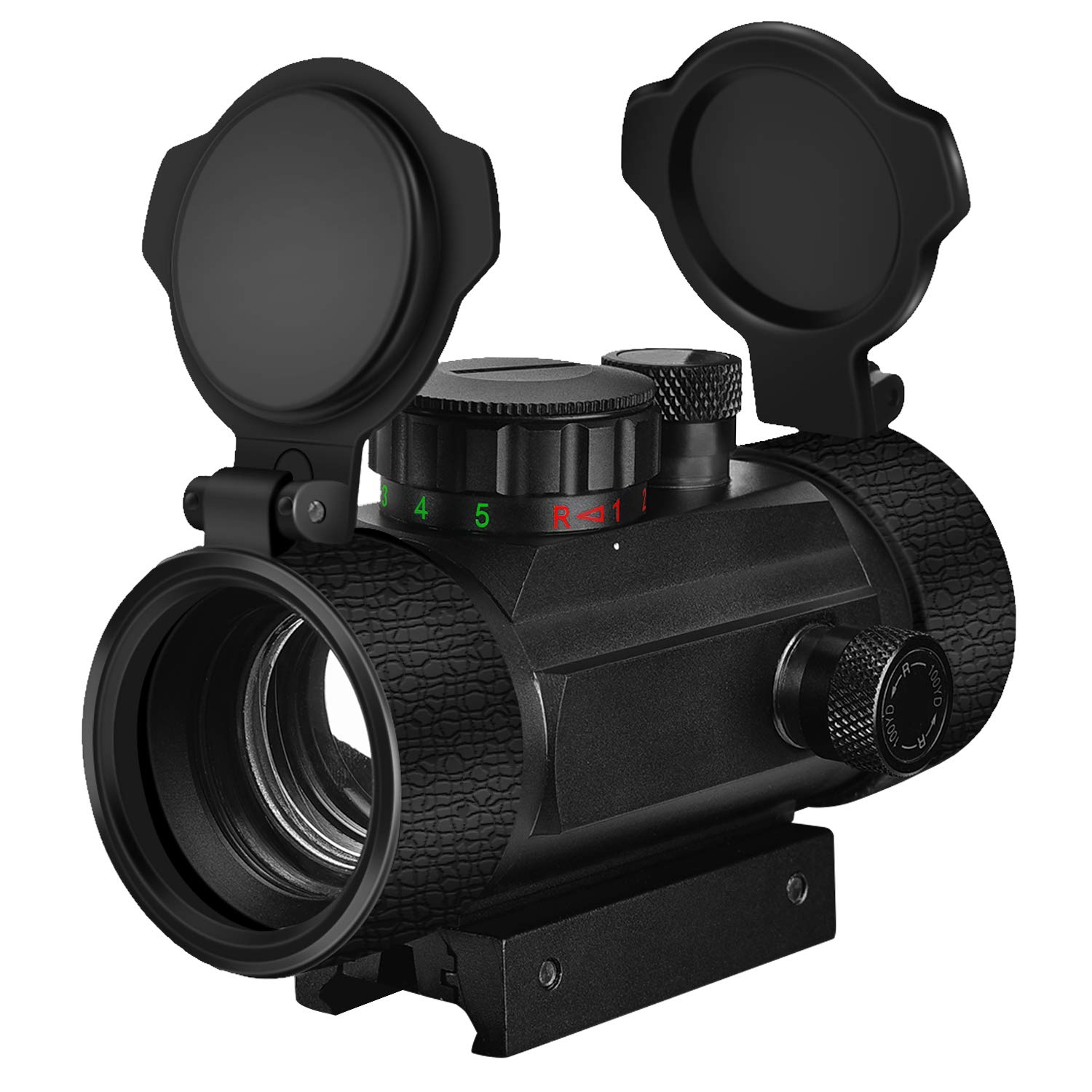 EZshoot Red Green Dot Sight Tactical Scope Reflex Sight with Lens Cap 20mm Rail Mount by EZshoot