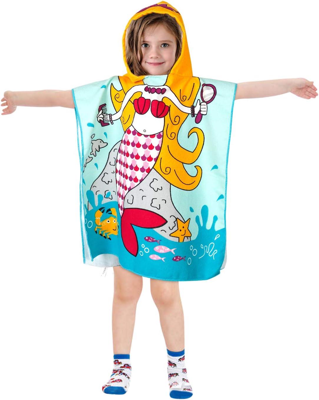 Akamino Kids Hooded Unicorn Pool Towel