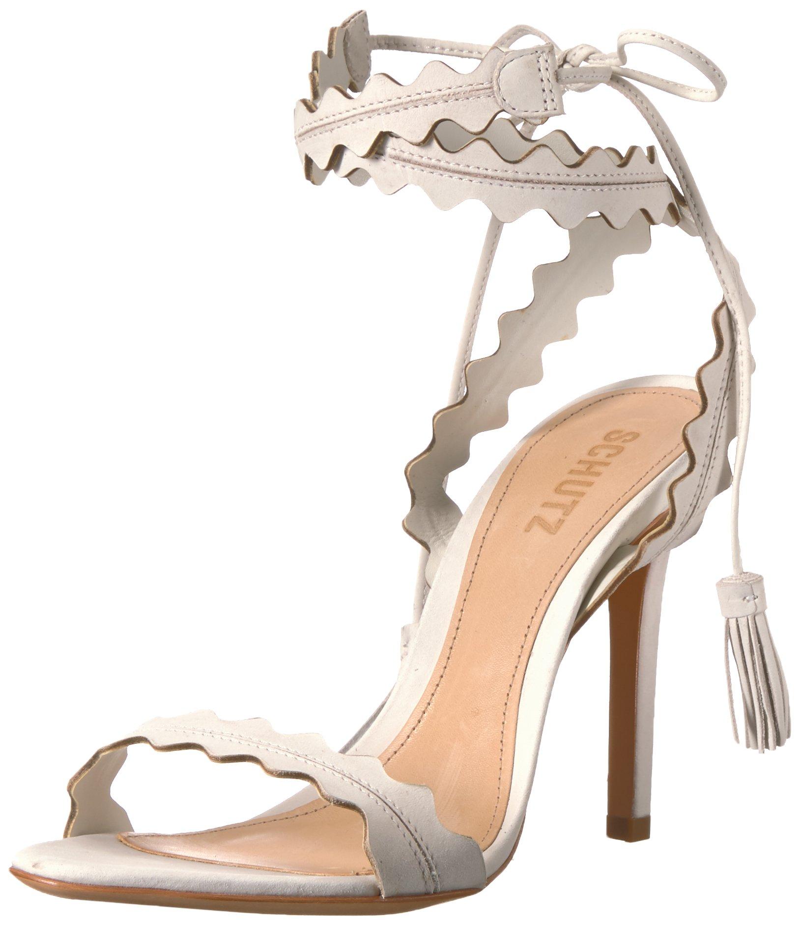Schutz Women's Lisana Heeled Sandal, Light Beige, 6.5 M US