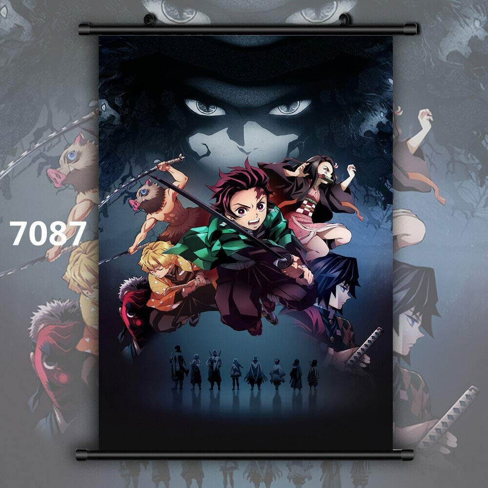 Demon Slayer Kimetsu No Yaiba Tanjirou Nezuko Anime Wall Poster Scroll Room Home Decoration Wall Art 7087 30x45cm 12x18inches