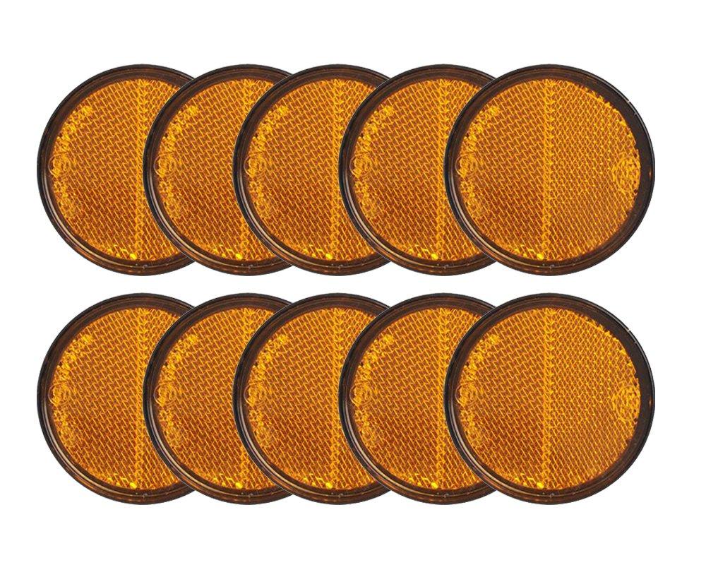 10x Reflektor orange /Ø58mm selbstklebend von The Drive