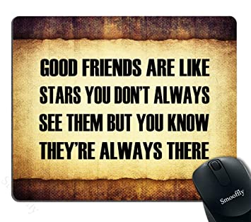 Inspirational Quotes For | Mouse Pad Inspirational Quotes For Life Good Friends Amazon De
