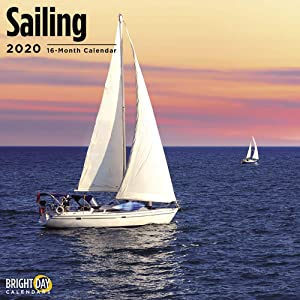 2020 Sailing Wall Calendar by Bright Day, 16 Month 12 x 12 Inch, Boat Water Ocean Blue