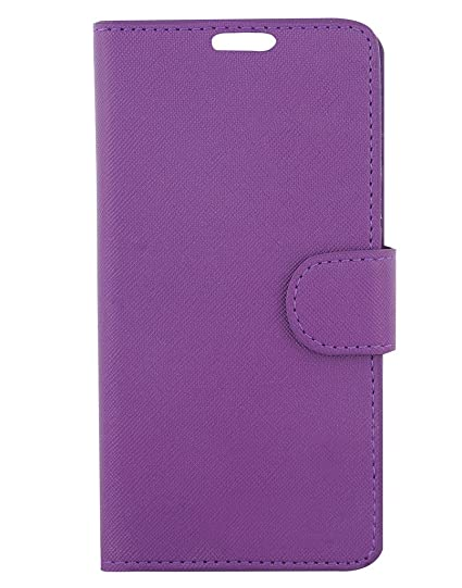uk availability 7fd98 16bc8 Colorcase Leather Flip Cover Case for Panasonic Eluga Ray Max - (Purple)