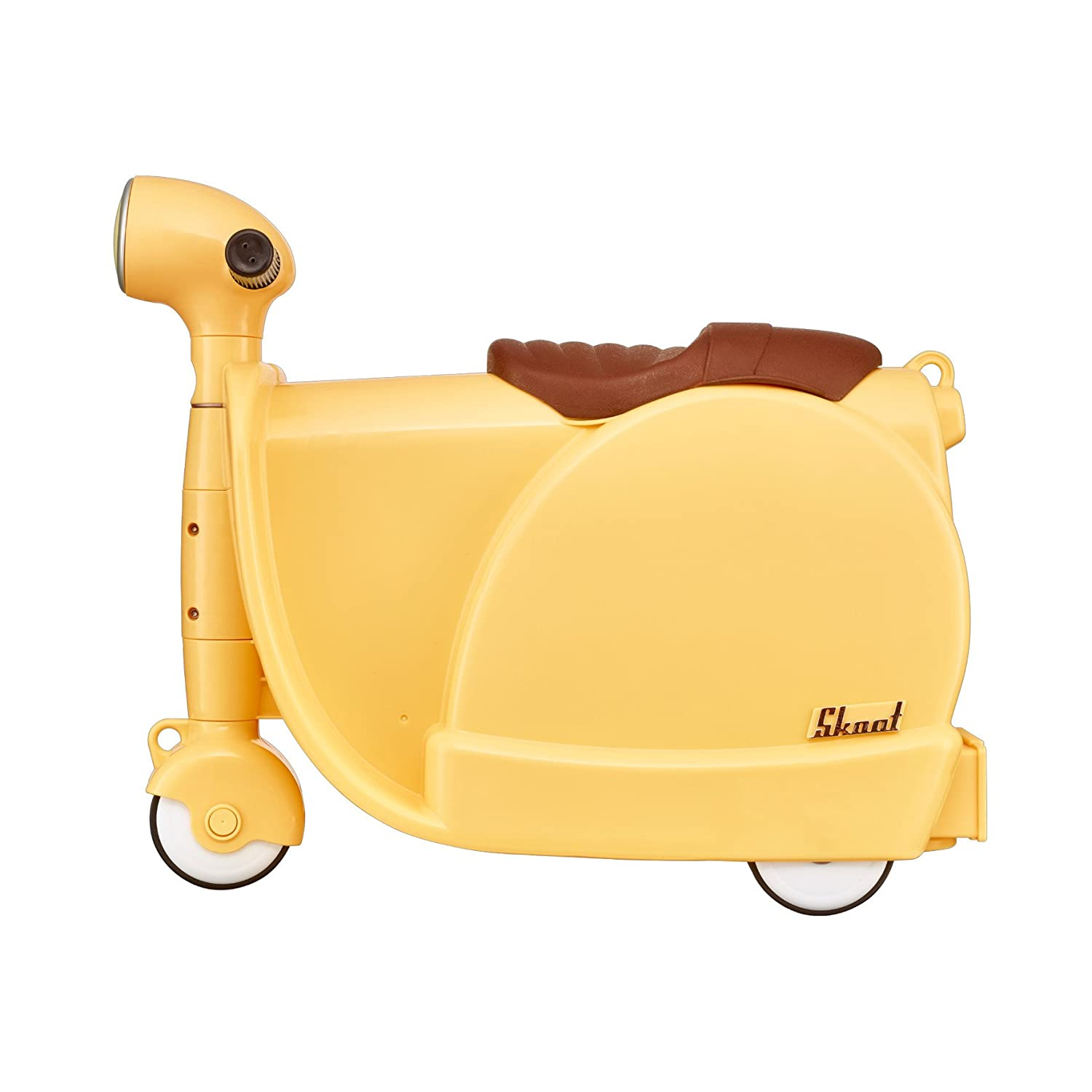 Skoot Kids' Ride-On Suitcase Children's Luggage, Lemon Yellow ...