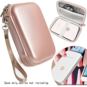 Protective Case for HP Sprocket Select, Sprocket Plus Instant Photo Printer, Kodak Mini 2 / Mini Shot Portable Mobile Printer Camera Protective Pouch Box, Rose Gold