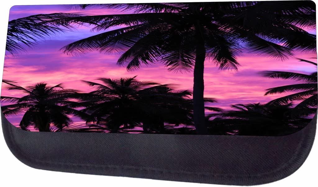 Purple Palm Tree Silhouette Sunset Jacks Outlet School Backpack and Pencil Case Set