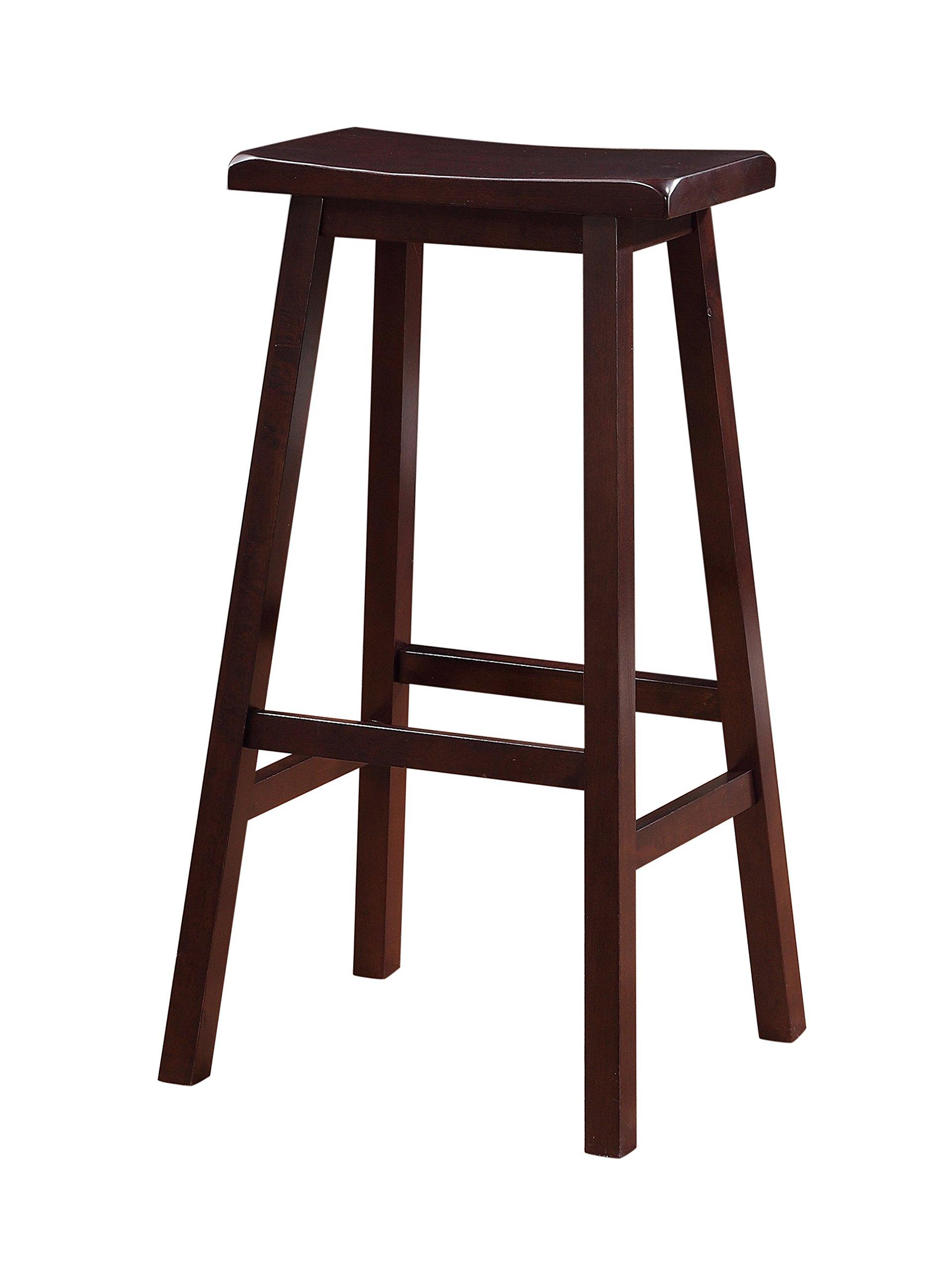 Linon Home Saddle Stool, 29-Inch