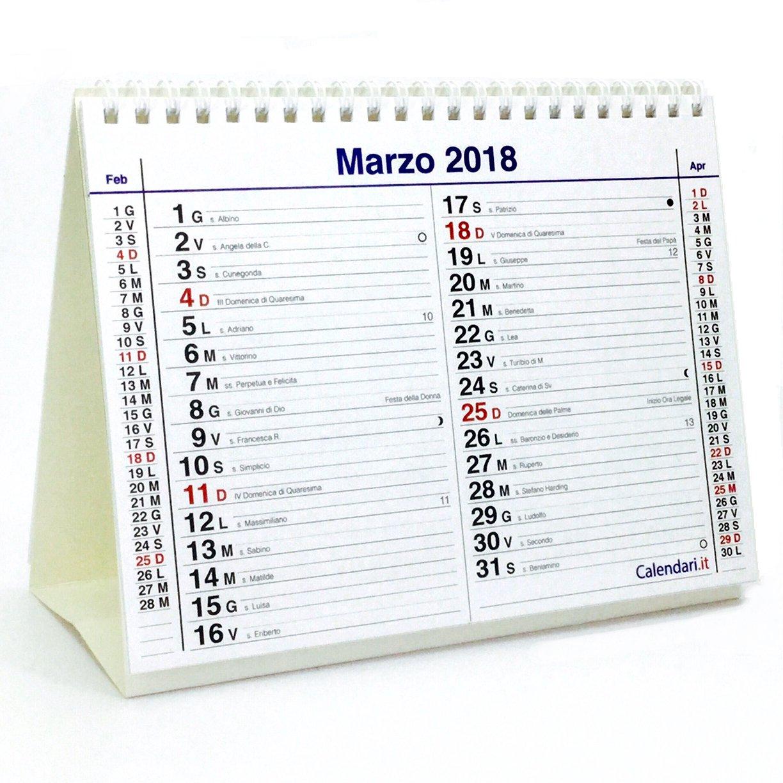 Calendario 2018 olandese - 20x15 cm da tavolo per ufficio casa e lavoro DOPPIO P.ART