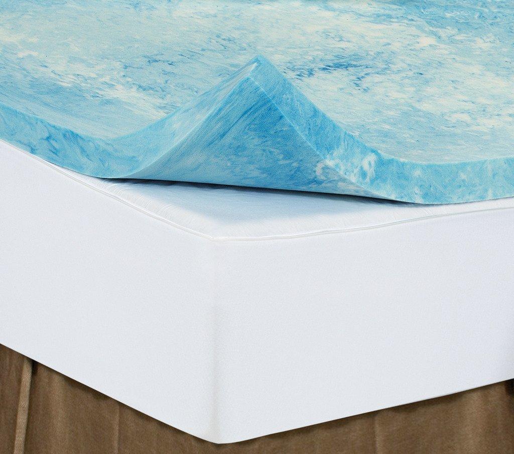 Twin XL 3 Inch iSoCore Gel Infused Swirl 6.0 Memory Foam Mattress Topper American Made