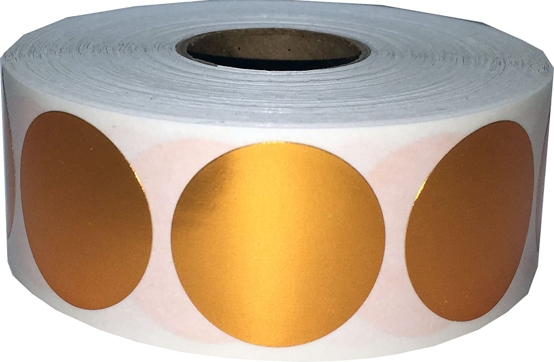 Blanc Cercle Point Autocollants, 25 mm 1 Pouce Rond, 500 Étiquettes sur un Rouleau InStockLabels.com