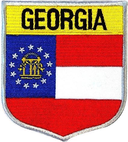 NEW SOUTH CAROLINA FLAG PATCH SHEILD STYLE SEW IRON ON
