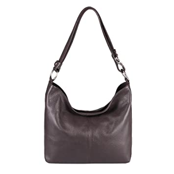 2dee84b5e8f99b OBC Italy Echt Leder Damen Tasche Shopper CrossOver Schultertasche Hobo-Bag  Umhängetasche Handtasche Henkeltasche Ledertasche