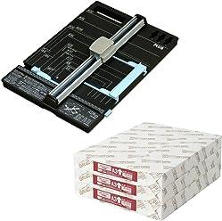 プラス 裁断機 ハンブンコ A4 + コピー用紙 A3 1500枚 (500枚×3冊) セット