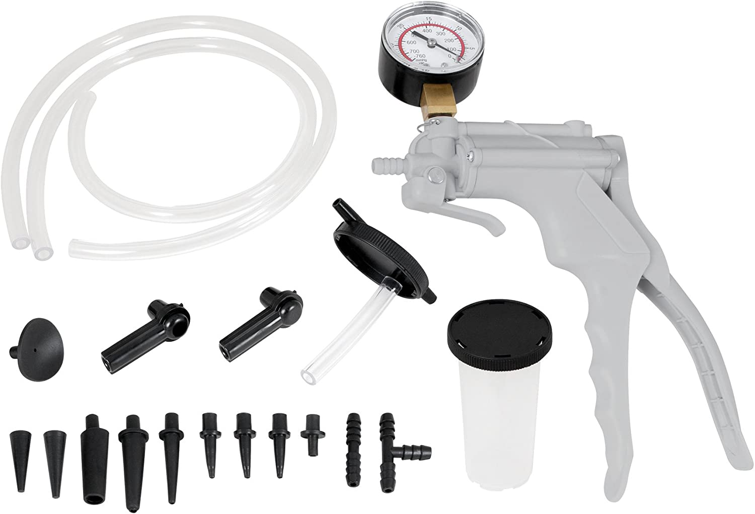 Automotive Hand Vacuum Pump Test & Brake Bleeder Kit