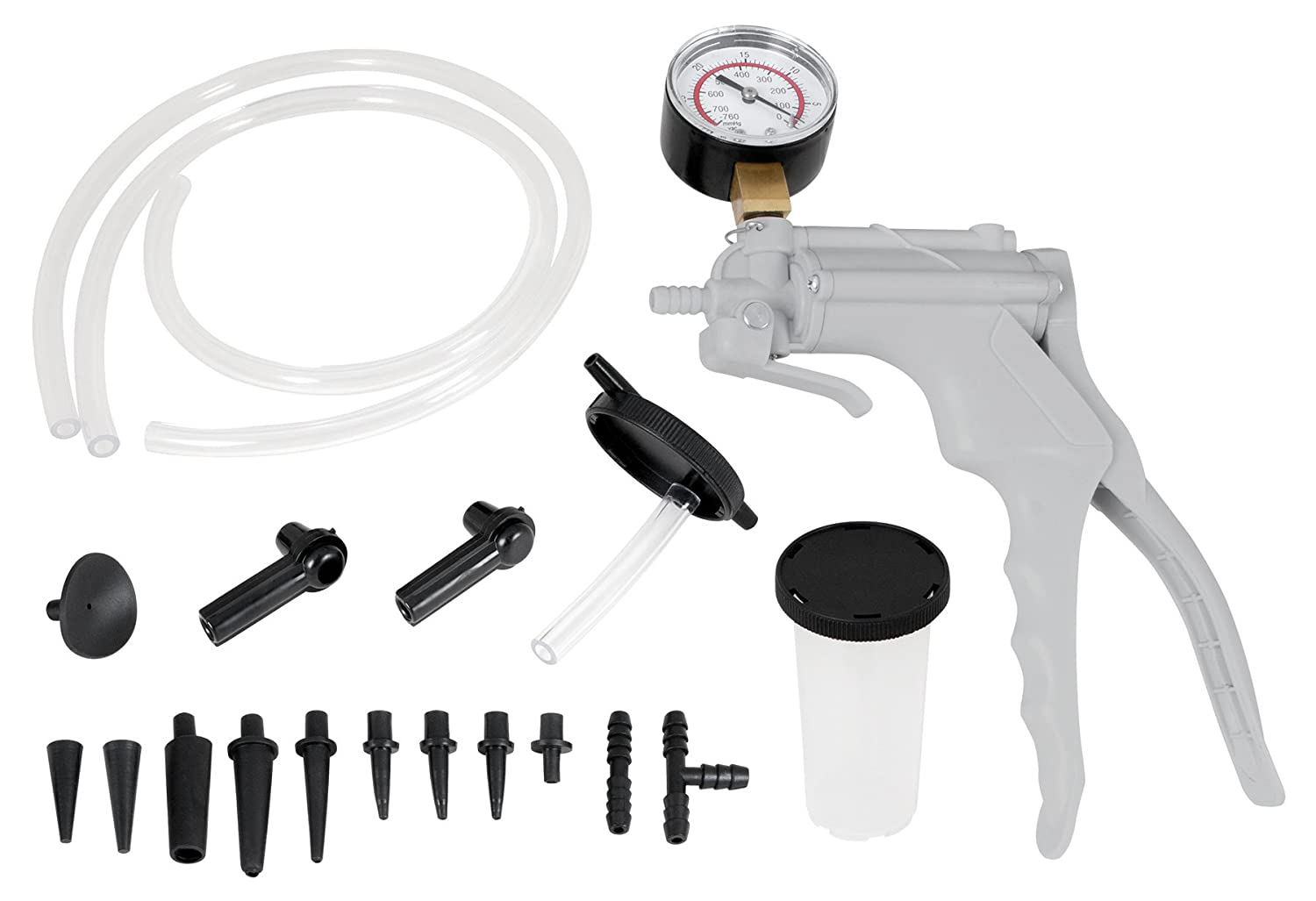 Performance Tool W87030 One Man Automotive Hand Vacuum Pump Test & Brake Bleeder Kit