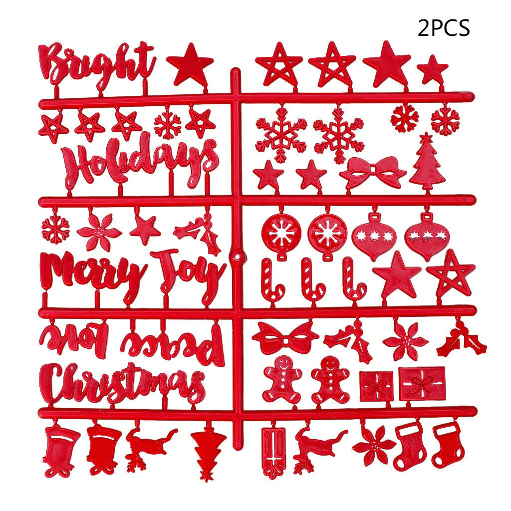 CHBC 2Pcs Christmas Red Felt Sign Board Plastic Letters for Felt Letters Board for Sign Board
