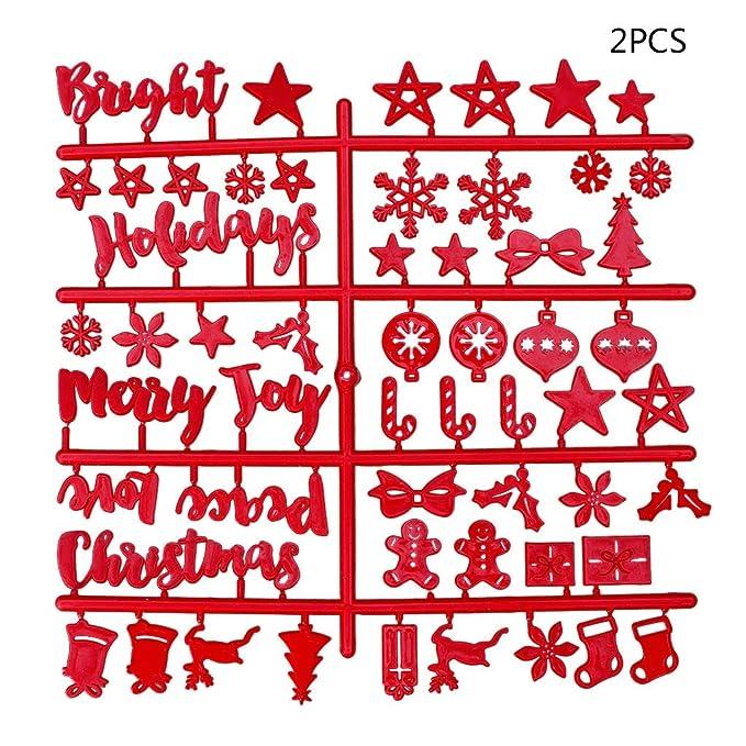 Dabixx Christmas Felt Sign Board Letras Plásticas para ...