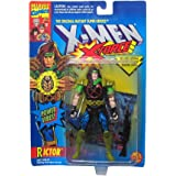 Rictor Action Figure - 1994 - X-Men / X-Force Series - Power Vibes & Gun - Trading Card - Toy Biz - Marvel - Limited Edition - Collectible