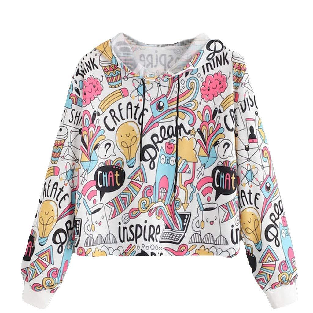 SUMTTER Felpe Donna Tumblr Felpe Donna Corte con Cappuccio Tops Pullover Donna Inverno Autunno Sweatshirt Manica Lunga Camicette Maglietta