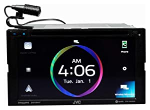 JVC KW-V950BW Compatible with Apple CarPlay, Wireless Android Auto 2-DIN CD/DVD AV Receiver, High-Resolution Audio