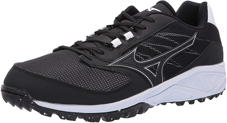 Mizuno Mens Dominant All Surface Low Turf Shoe Baseball, Black ...