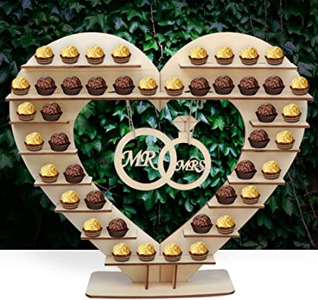 Soporte para Ferrero Rocher. Perfecta decoración de mesa para bodas para poner algunos bombones en é