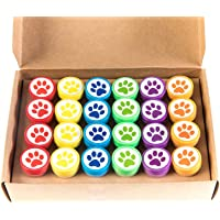 Huji Paw Print Stampers 24 Pieces Birthday Supplies Bag Accessories Toys Classroom Teachers Reward Activities for…