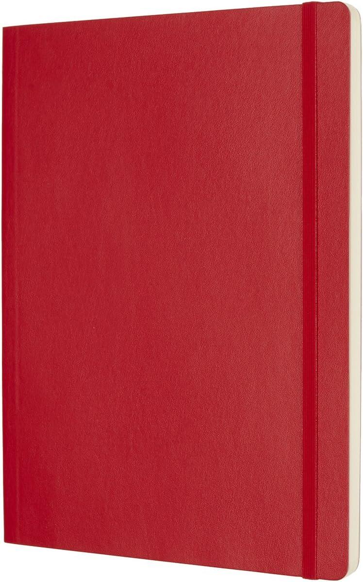 Rouge /écarlate Journal /à Fermeture Souple et /à Fermeture /Élastique Format Extra Large 19 x 25 A4-192 Pages Moleskine Cahier Classique en Papier /à Pois