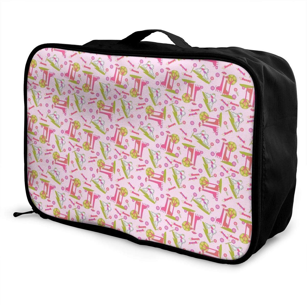 Portable Luggage Duffel Bag Cute Giraffe Travel Bags Carry-on in Trolley Handle JTRVW Luggage Bags for Travel