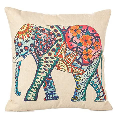 Outgeek Throw Pillow Cover Funda De Almohada De Elefante De ...