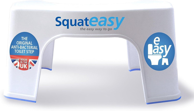 Squat Easy Taburete Antibacteriano para postura saludable en el inodoro - Producto Patentado Anti-bacteriano de plastico de grado medico