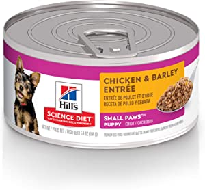 Hill's Science Diet Dog Food, Puppy, Small Paws for Small Breeds, Chicken Meal & Barley Recipe