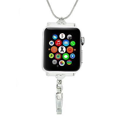 Amazon.com: divoti Apple collar con colgante de reloj ...
