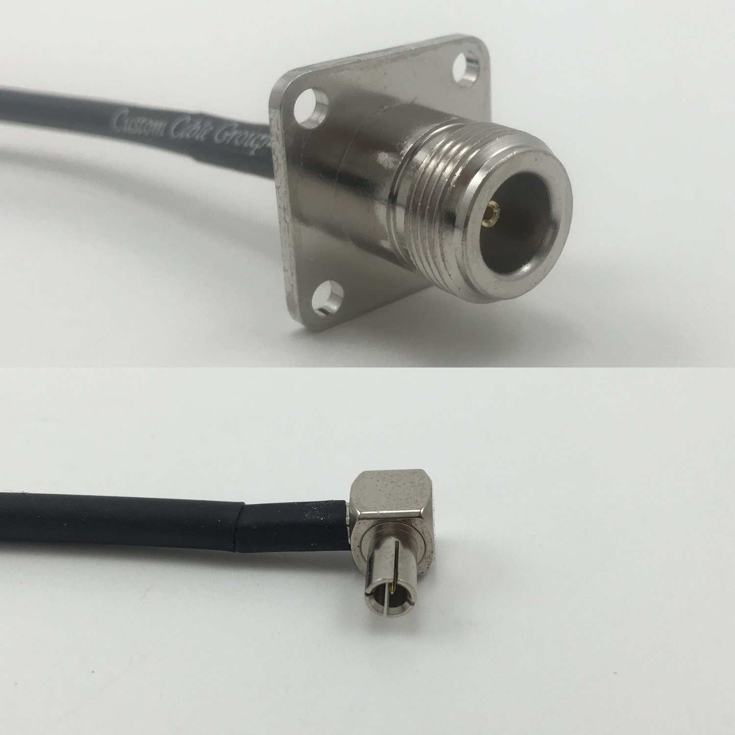 12 inch RGU178 N FLANGE FEMALE to TS9 ANGLE MALE Pigtail Jumper RF coaxial cable 50ohm Quick USA Shipping
