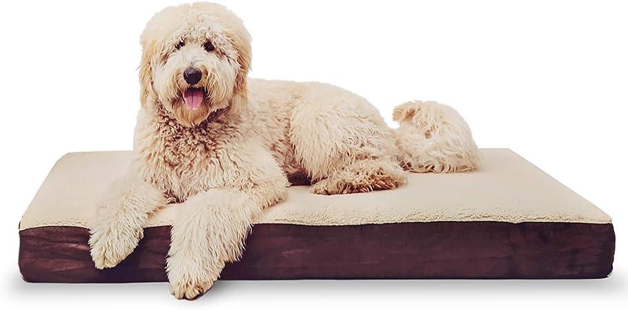 KOPEKS Rectangular Orthopedic Memory Foam Dog Bed