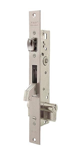 Tesa Assa Abloy, 2246253AI, Cerradura Monopunto para Perfiles Metálicos,Entrada 25mm, Acero Inoxidable: Amazon.es: Bricolaje y herramientas