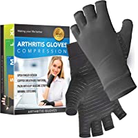 Glalove Copper Fit Compression Gloves, Copper Infused Compression Gloves, Carpal Tunnel, Arthritis Gloves for Men and…