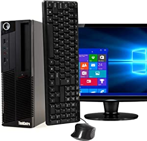 Lenovo Thinkentre M90 Desktop Computer - Intel Core i5 3.1GHz 8GB RAM, 1TB HDD, DVD-RW Drive, Bluetooth and WiFi, 22 Inch LCD, Keyboard, Mouse, Windows 10 Pro (Renewed)