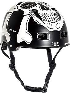 AWE® Meet Your Maker™ BMX Negro 55-59cm del Casco REEMPLAZO Libre de 5 AÑOS del Crash *