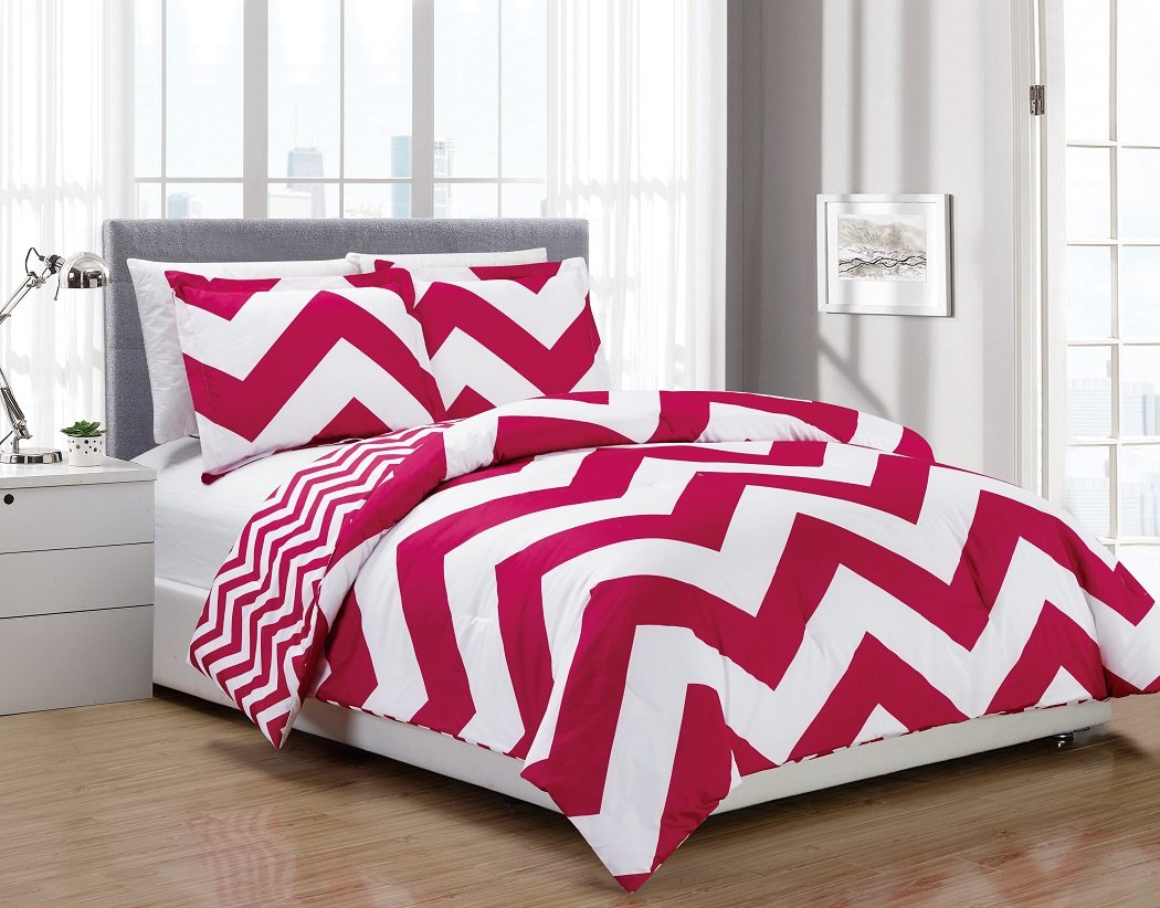 bedding ultra shipping set bath option chevron product intelligent free today color kylie design embroidered plush comforter overstock