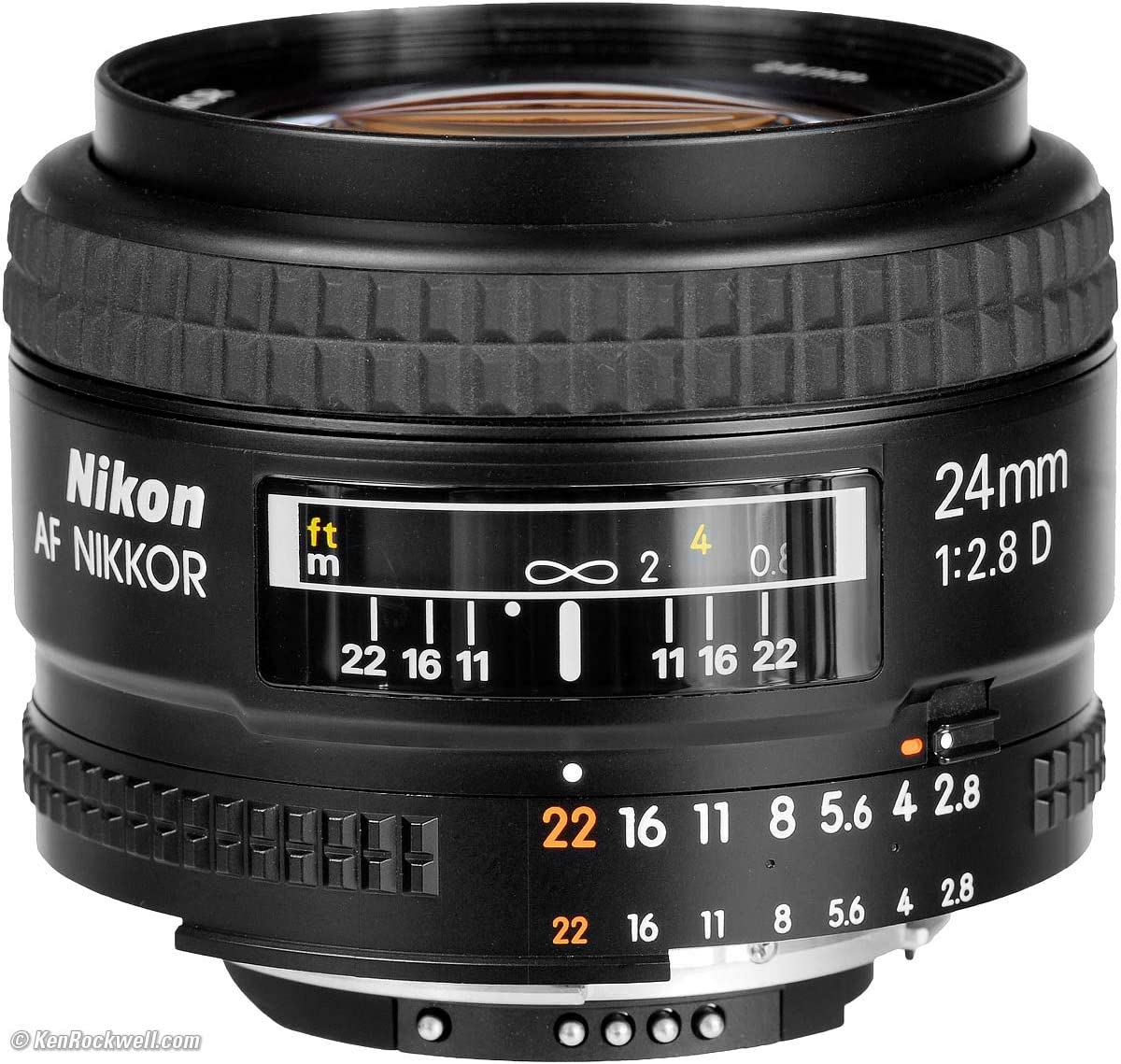 Nikon AF FX NIKKOR 24mm f/2.8D Fixed Zoom Lens with Auto Focus for Nikon DSLR Cameras (Renewed)