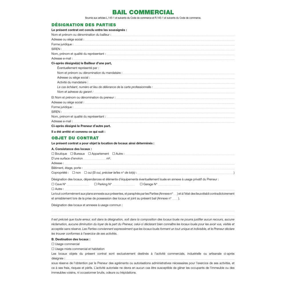 Exacompta Ref 47e Dossier Complet De Location Commerciale